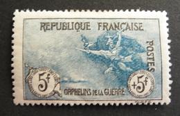 LOT R3586/605 - AU PROFIT DES ORPHELINS DE LA GUERRE - N°155 NEUF * - Cote : 2100,00 €