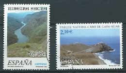ESPAGNE SPAIN SPANIEN ESPAÑA 2002 NATURE Paisajes SET OF 2V ED 3884-85 YV 3449-50 MI 3729-30 SG 3854-55 SC 3153-54 - 2001-10 Used