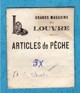 Materiel De Pêche Ancien Grands Magasins Du Louvre Articles De Pêche - Pêche