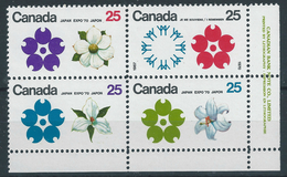 Canada 1970 25c Multi Emblem Expo 70  -  Mint Never Hinged Original Gum Post Office Fresh
