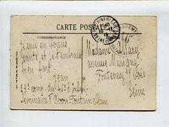 """Cp - Cachet De Franchise Militaire. """"Le Vaguemestre 46e Fontainebleau"""" -"""