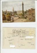 London: Trafalgar Square Looking Towards Charing Cross. Postcard Cm 9x14 Travelled 1938