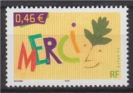"= Timbre De Message ""Merci"" N°3540 Neuf Gommé, - France"