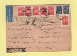 Russie - Recommande Par Avion Destination Hericourt - 19-3-1960