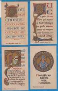 Image Pieuse -  SANTINO - Holly Card -  LOT De 4 Images - F - Devotion Images