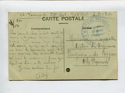Cp - Cachet De Franchise Militaire - Service Militaire Des Chemins De Fer Commission De Gare D'Avignon