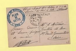 Service De Ravitaillement - Vins - Place De Cette - Gare De Cette 3-11-1916