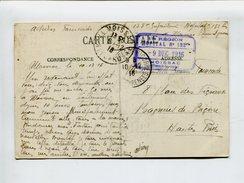 Cp - Cachet De Franchise Militaire - 17e Région Hôpital N°132bis Moissac Tarn Et Garonne 9 Déc 1916