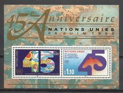 HOJA BLOQUE  1 NACIONES UNIDAS SEDE GENÉVE SUIZA O.N.U NUEVO MNH**. NAZIONI UNITE Foglio SEDE Souvenir Geneve Svizzera