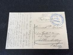 Feldpost 1.WK  Landsturm Inf. Btl. BRUCHSAL (Absender Fest. Fernspr. Abtlg. ANTWERPEN) 1915 - Covers & Documents