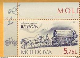 2013 Moldova Moldavie Moldau  Europa CEPT Bicycling. Postal Wagon.