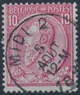 N° 46, TB Obl Centrale 'Midi 2', Nipa +7.5? - 1884-1891 Léopold II