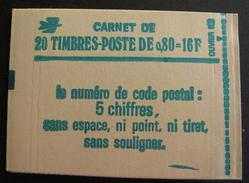 LOT R1703/38 - CARNET DE 20 TIMBRES NEUFS ** SABINE N°1970 GOMME MATE N° 1970-C1a - Cote : 62,00 €