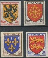 N° 602/05, Armoiries, La Série Non Dentelée