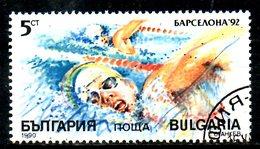 BULGARIE. N°3320 Oblitéré De 1990. Natation/J.O. De Barcelone.