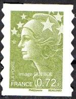 Autoadhésif(s) De France N°  212 Au Modèle 4232 ** Marianne De Beaujard -> Le 0.72 Eur. Vert Olive - France