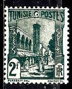 TUNISIE 281** 2f Vert Foncé Grande Mosquée Halfaouine à Tunis