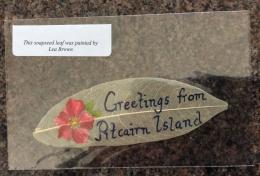 PITCAIRN ISLANDS 2009  Hand Painted Soapseed Leaf  From Pitcairns Philatelic Bureau