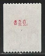 DD--1136-.  N° 1895a  .  *   * ,  3 BANDES DE PHOSPHORE ( ROULETTE N° ROUGE 120 ) TTB, Cote 3.00 €, Voir Scan Pour