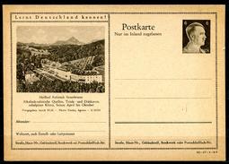 """German Empires 1942 Kopfbild A.Hitler GS Mi.Nr.P307/42-17-1-B4""""Lernt Deutschland Kennen!-Heilbad Rohhitsch,Sauerb."""" 1 GS - Enteros Postales"""