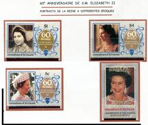 St Vincent  **  N° 255 à 258 - Portraits De La Reine