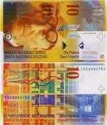 SWITZERLAND       10 Francs       P-67e       (20)13       UNC  [sign. Studer-Danthine] - Suiza