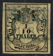 ATENS 21/8 Auf 1/10 Thaler Gelb - Oldenburg Nr. 4 A - Kabinett