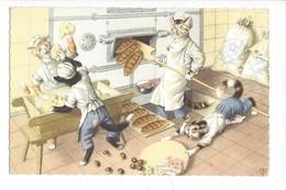16903 - Chats Habillés Le Boulanger - Animaux Habillés