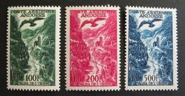 LOT R1703/140 - ANDORRE FRANCAIS - 1955 - POSTE AERIENNE - N°2 à 4 - NEUFS * - Cote : 109,00 €
