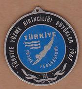 AC - SWIMMING CHAMPIONSHIP OF TURKEY SENIORS 1967 MEDAL PLAQUETTE - Swimming