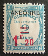 LOT R1703/138 - ANDORRE FRANCAIS - 1931 - TIMBRE TAXE - N°13 - NEUF * - Cote : 92,00 €