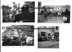 NICE 1949 - CARNAVAL - FACADE GARAGE NEDEY - EMPLACEMENT ORPHELINATS - CHARS - ALPES MARITIMES - LOT DE 4 PHOTOS - Lieux