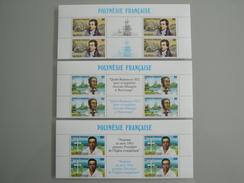 1988 Polynésie Française Yvert  318A à 320A ** Missionnaires Protestants Scott 498/00  Michel 518/20  SG 548/50 - Neufs