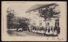 ANVERS  - HEMIXEM --- INSTITUT St - NICOLAS -- Zeldzame !! Zeer Mooie Animatie 1903 - Antwerpen