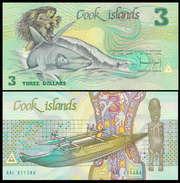 Cook Islands 3 Dollars 1987 P3a UNC - Cook Islands