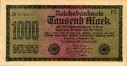 ALLEMAGNE WEIMAR 1000 MARK Du 15-9-1922  Pick 76  UNC/NEUF - [ 3] 1918-1933 : Weimar Republic