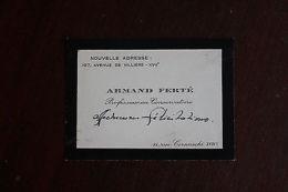 ? C.A. Armand Ferté Pianiste Compositeur Chef D'orchestre - Alte Papiere