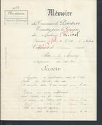 FACTURE DE 1912 MÉMOIRE DES TRAVEAUX DE PEINTURE EXÉCUTÉS POUR LE COMPTE DE M. LAVAL RUE DE L EST MELUN 1912 2 PAGES : - Petits Métiers