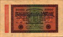 ALLEMAGNE WEIMAR 20000 MARK Du 20-2-1923  Pick 85 - 20000 Mark