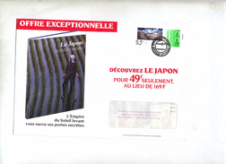 Lettre Cachet Pttpost Sur Palais  Time Life Japon Au Dos Timbre Et Appareil Photo - Marcophilie - EMA (Empreintes Machines)