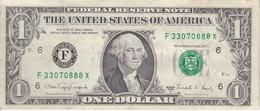 BILLETE DE ESTADOS UNIDOS DE 1 DOLLAR DEL AÑO 1988 LETRA F  ATLANTA   (BANK NOTE) - Billetes De La Reserva Federal (1928-...)