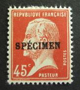 """LOT R1592/53 - PASTEUR - TIMBRE """" SPECIMEN """" N°175-CI1 - NEUF * - Cote : 25,00 € - Specimen"""