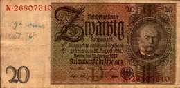ALLEMAGNE WEIMAR 20 REICHMARK Du 22-1-1929  Pick 181a - [ 3] 1918-1933 : Weimar Republic