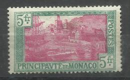 """Monaco 102 """" 5 Fr.-Freimarke Mit Abbild Des Hafens Von Monte Carlo"""" P0stfrisch Mit Falz. Tip-top Mi.:7,00 € - Monaco"""