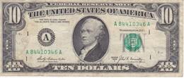 BILLETE DE ESTADOS UNIDOS DE 10 DOLLARS DEL AÑO 1969 LETRA A  BOSTON  (BANK NOTE) - Billetes De La Reserva Federal (1928-...)
