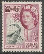 Southern Rhodesia. 1953 QEII. ½d MH. SG 78 - Southern Rhodesia (...-1964)