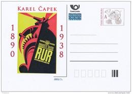 Czech Rep. / Postal Stat. (Pre2013/61) Karel Capek (1890-1938) Czech Writer; Play R.U.R. That Introduced The Word Robot