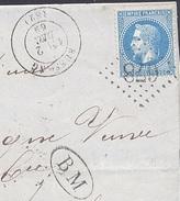 VOGES 88 BUSSANG LAC TAD 17  Du 02/12/1869 + BM  (Les Lesses)  GC 678 Sur N° 29 SUP - Postmark Collection (Covers)