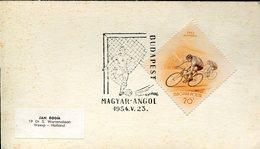21898 Hungary, Special Postmark 1954 Magyar Vs Angol Footbal Match  Hungary Vs England - Brieven En Documenten