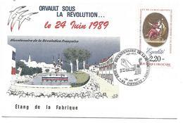 OBLITERATION ORVAULT LOIRE ATLANTIQUE SOUS LA REVOLUTION 1989 - Commemorative Postmarks